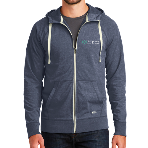 Symphony New Era Sueded Cotton Blend Full Zip Hoodie
