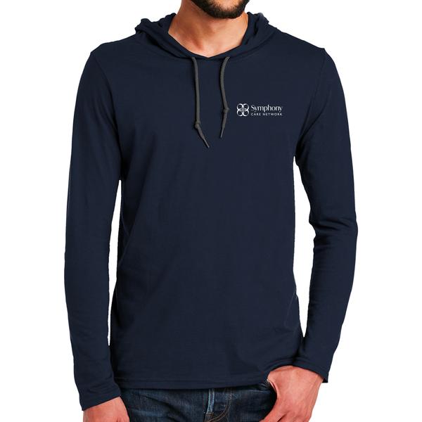 Symphony Ring Spun Cotton Long Sleeve Hooded T-Shirt