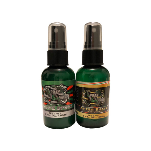 SPRAY AND SHAVE  TRAVEL SET