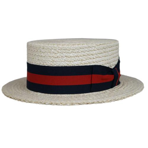 Capas Italian Boater Stiff Straw Hat