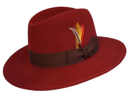 Bailey Hiram Open Crown Flat Brim Hat