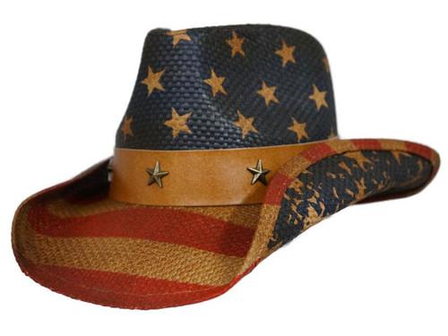 Dorfman Pacific Old Glory Western Hat