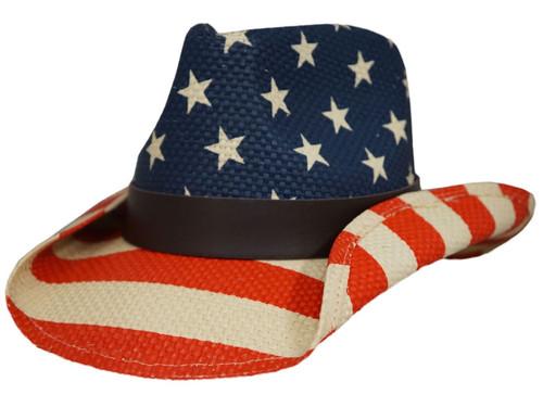 Dorfman Pacific Stars & Stripes Western Hat