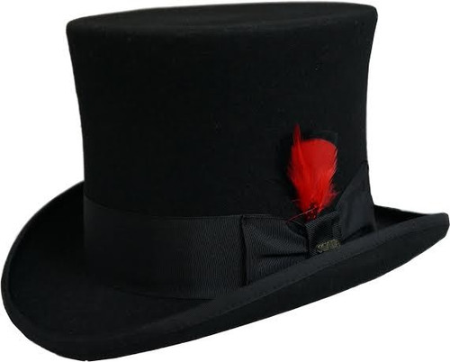Dorfman Pacific WF567 Mad Hatter Wool Top Hat