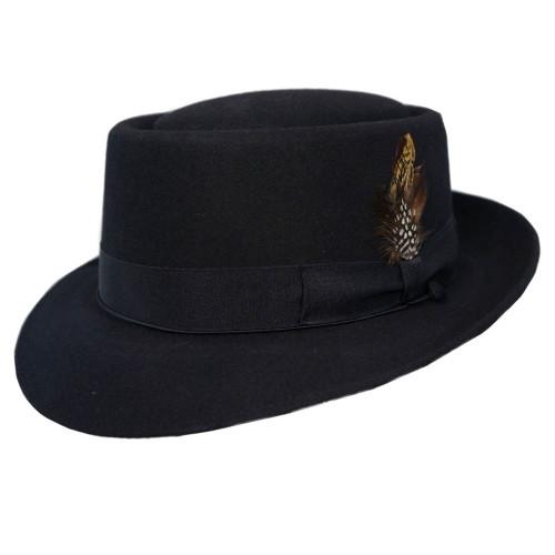 Selentino Oak Porkpie Felt Hat