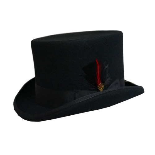 Dorfman Pacific WF569 English Style Wool Top Hat