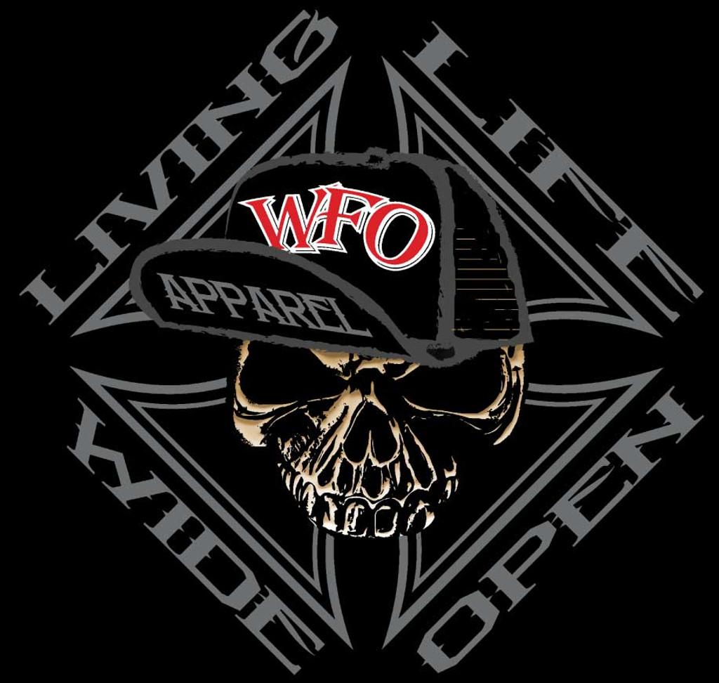 WFO - LIVIN LIFE WIDE OPEN - Black tee