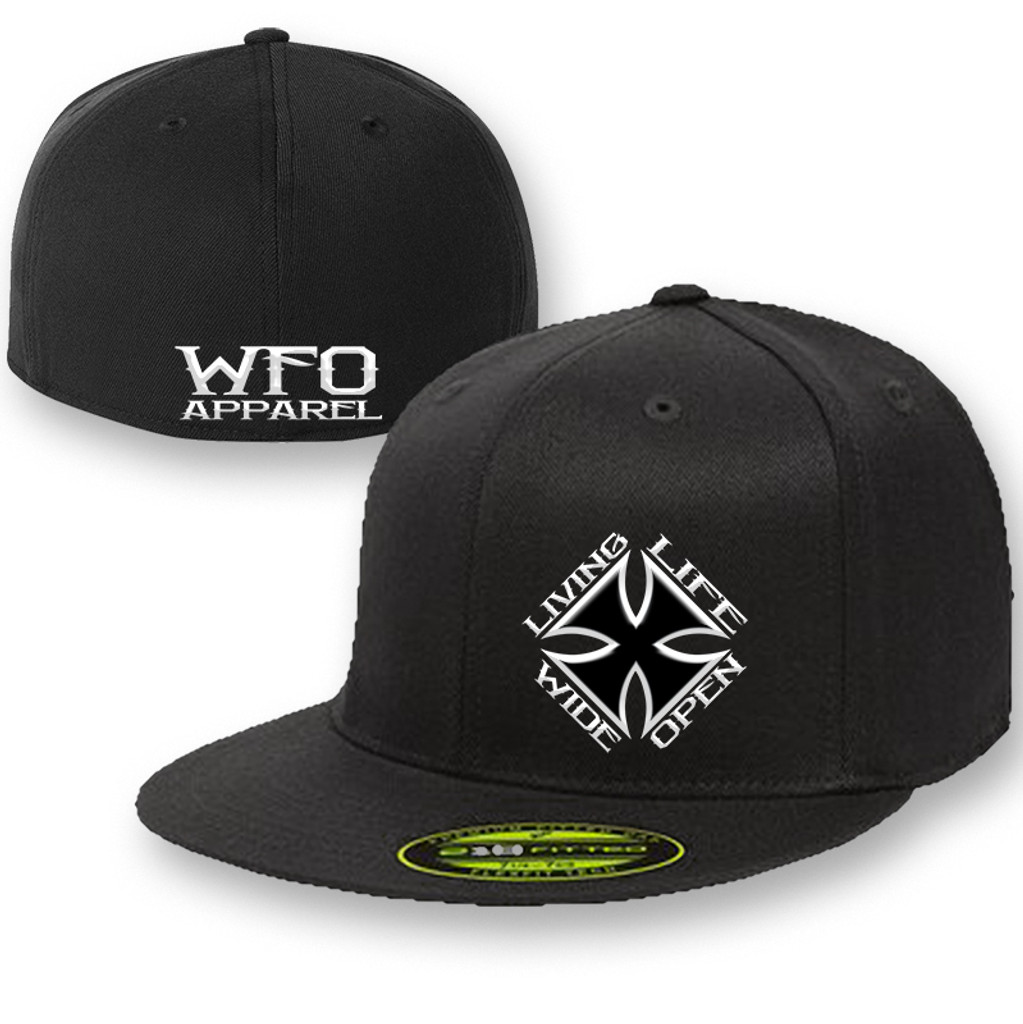 WFO FLAT BILL flex fit 210 black