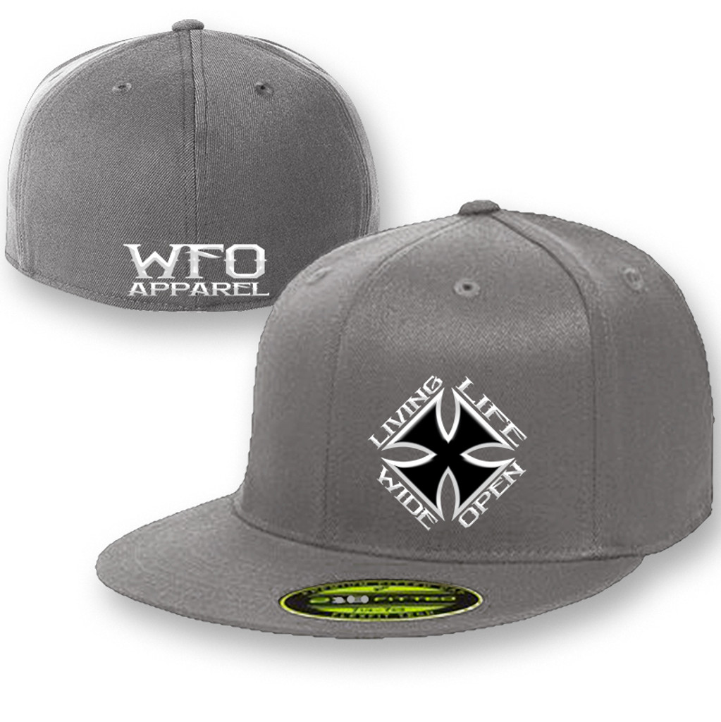 WFO FLAT BILL flex fit 210 gray