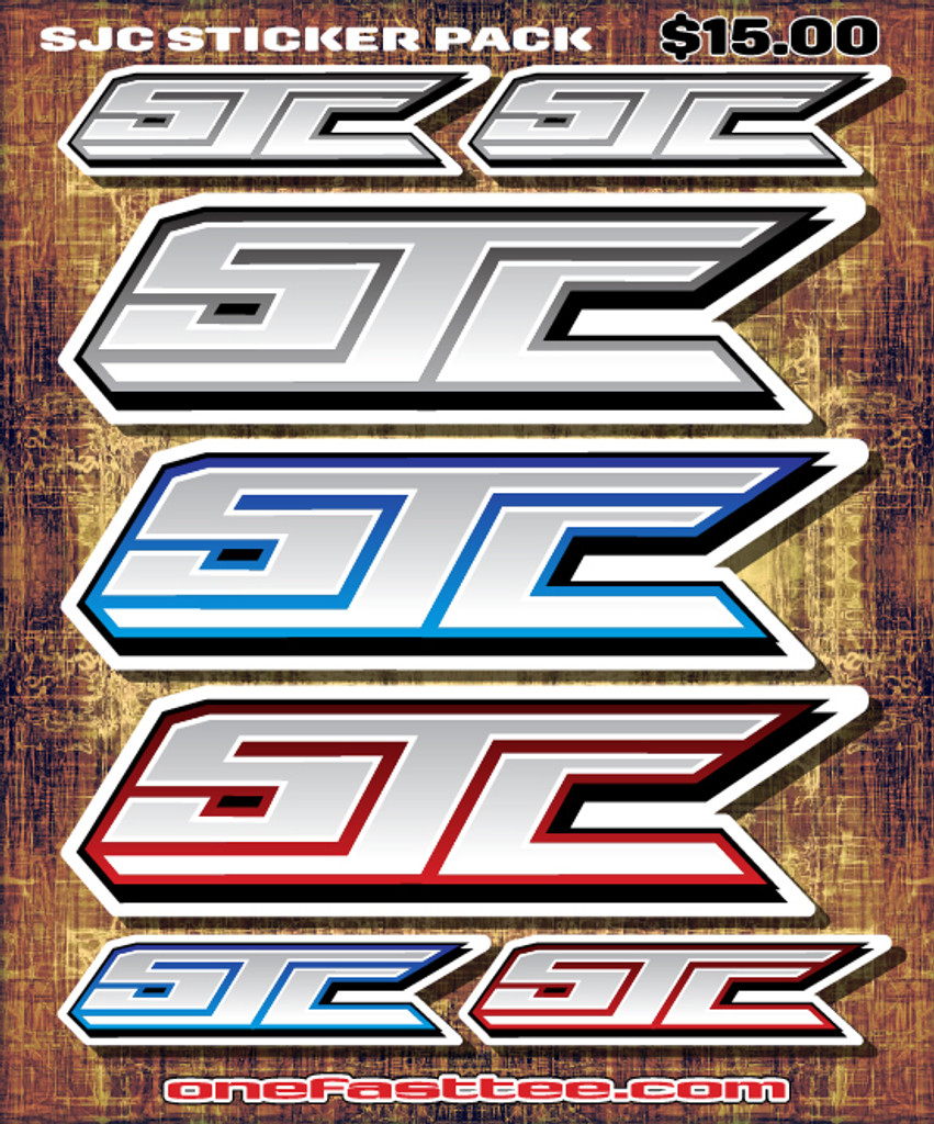 "SJC STICKER PACK 8"" x 10"""