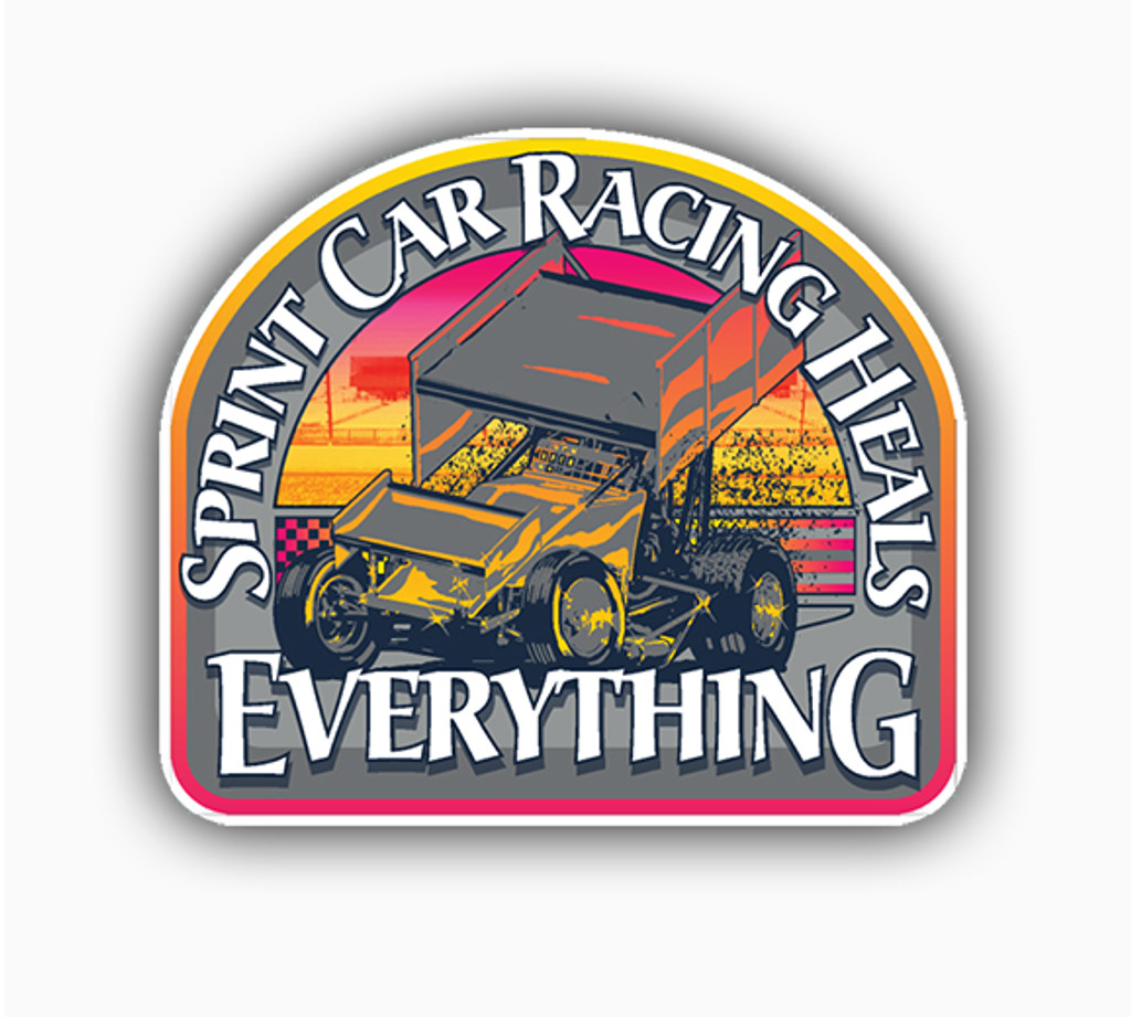 "HEALS EVERYTHING  DECAL 4.6"" X 4"