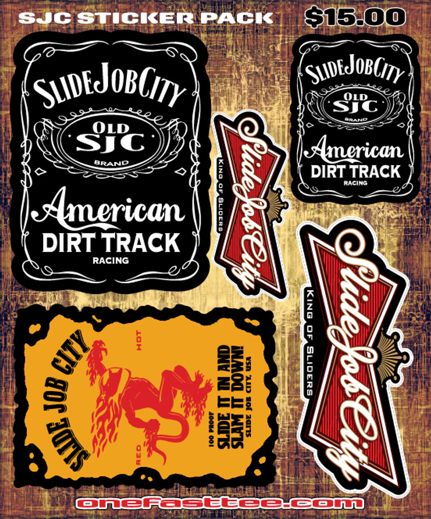 "SJC jackfirebud STICKER PACK 8"" x 10"""