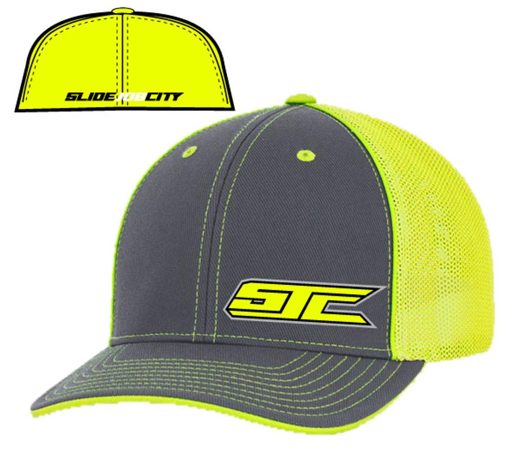 SJC logo 404 trucker mesh gray/neon yellow