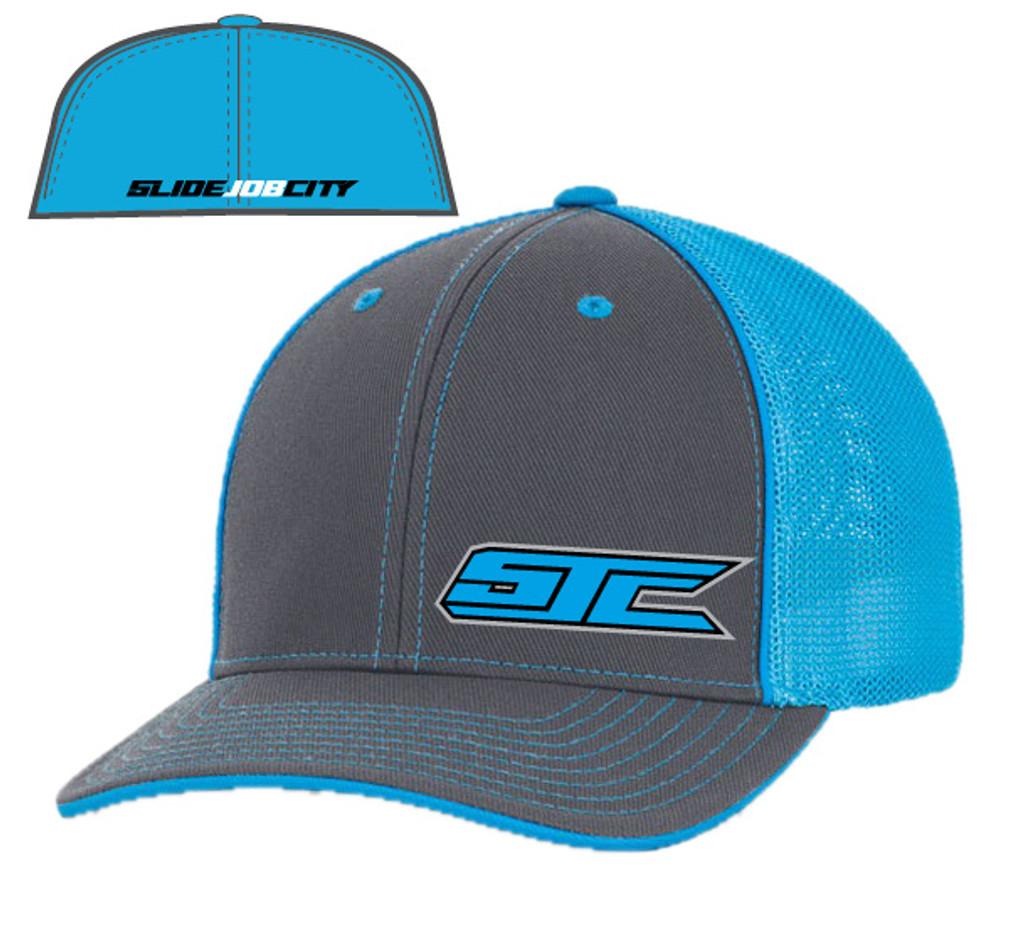 SJC logo 404 trucker mesh gray/blue