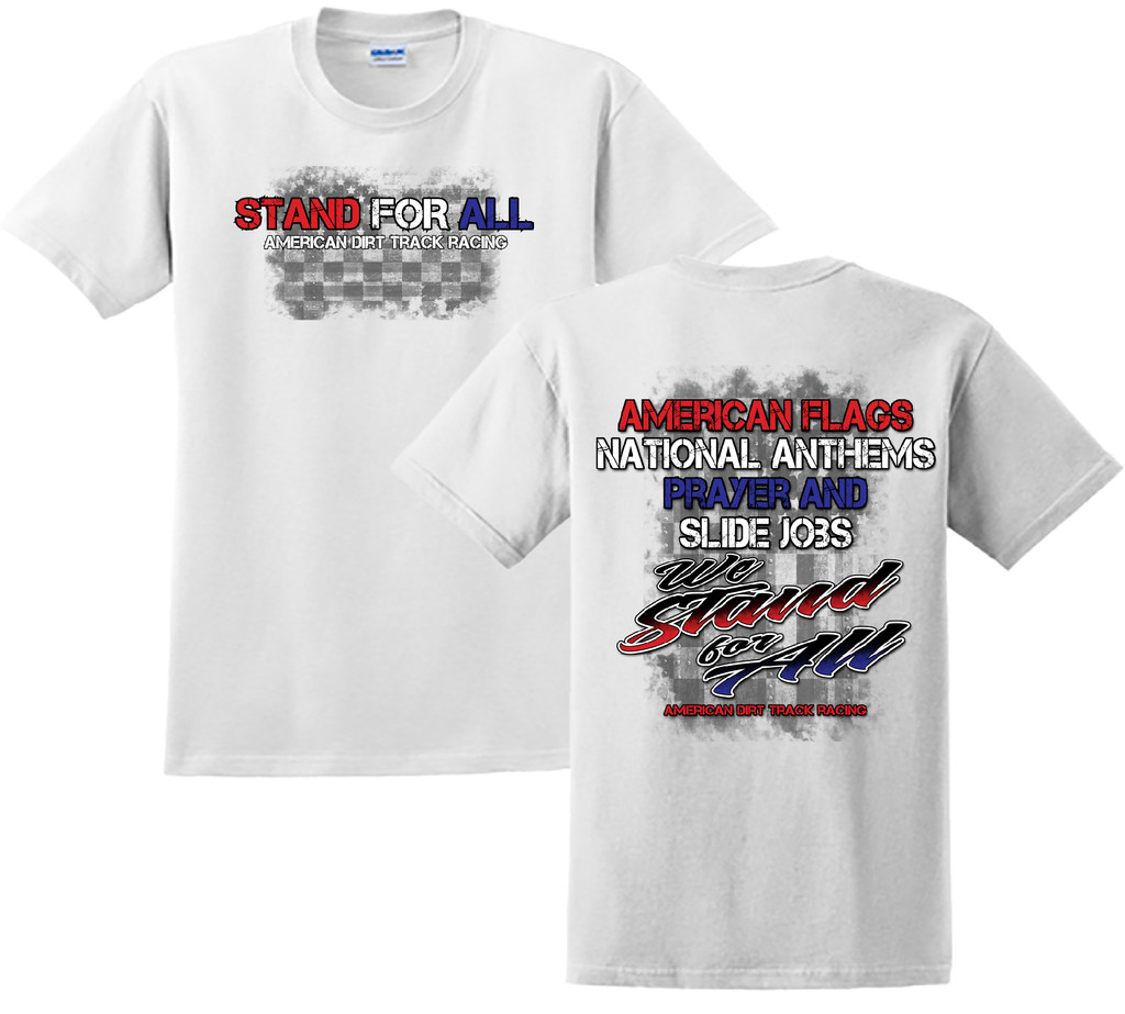 WE STAND FOR ALL MENS TEE WHITE