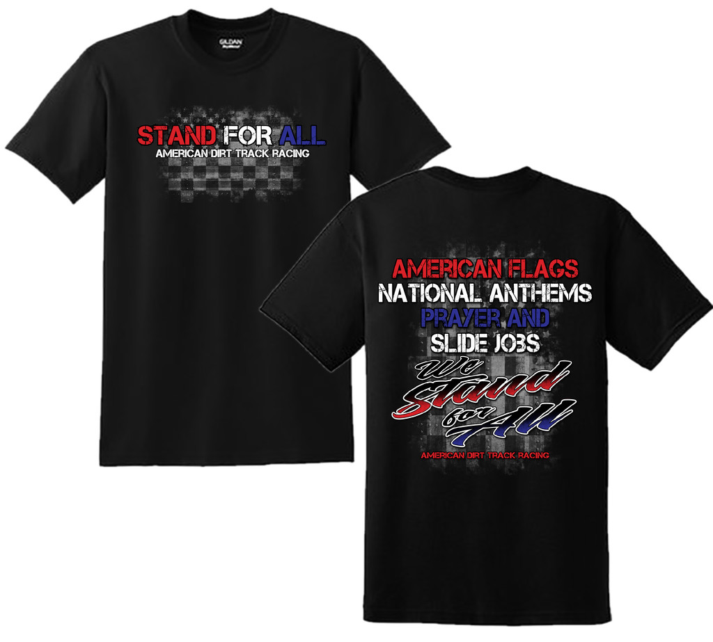 WE STAND FOR ALL mens black tee