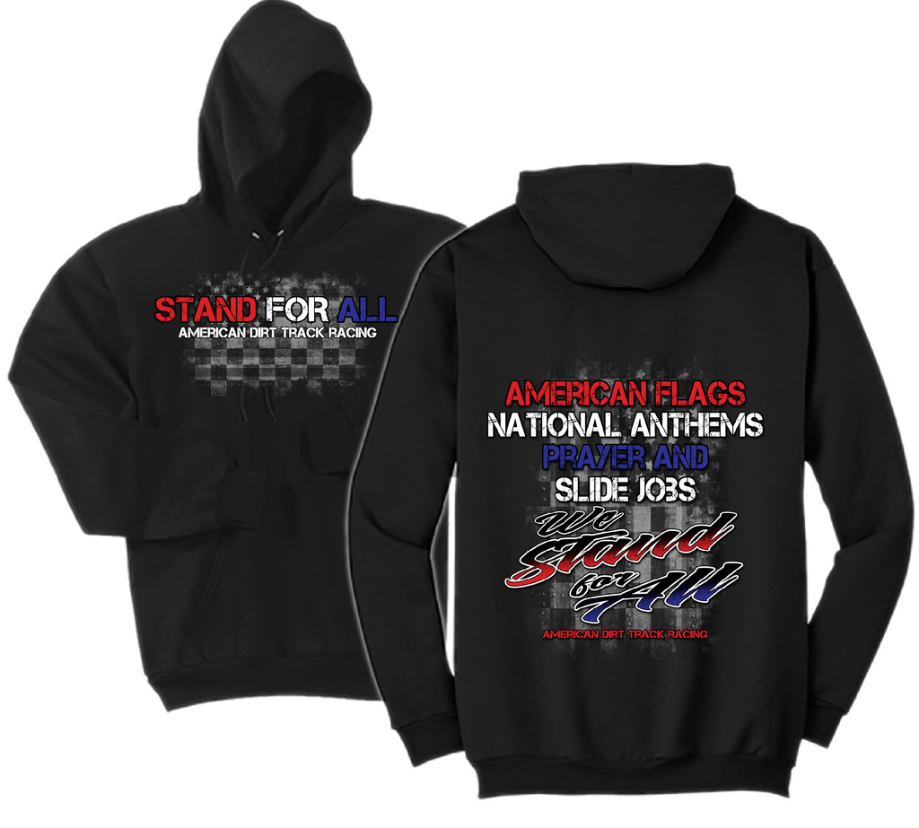 WE STAND FOR ALL mens hoodie