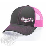 RaceChic Gray/Pink snapback hat