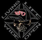 WFO - LIVIN LIFE WIDE OPEN - Black tee
