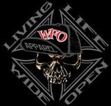 WFO - LIVIN LIFE WIDE OPEN - Black hoodie
