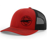 SJC 112 SNAPBACK RED/BLACK MESH