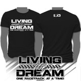 LIVING THE DREAM BLACK TEE