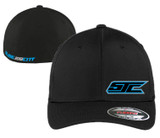 SJC BLACK FLEX FIT BLUE LOGO CURVED