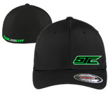SJC BLACK FLEX FIT NGREEN LOGO CURVED
