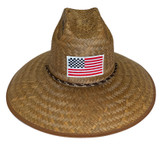 RACING AMERICAN FLAG STRAW HAT