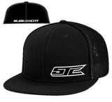 SJC Logo Flatbill Trucker Mesh Black