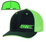 SJC logo 404 trucker mesh blk/neon green