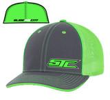 SJC logo 404 trucker mesh gray/neon green