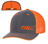 SJC logo 404 trucker mesh gray/neon orange