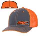 SJC Logo 404 Trucker Mesh Gray/Neon Orange