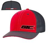 SJC Logo 404 Trucker Mesh Red/Gray