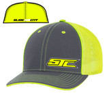 SJC logo 404 trucker mesh gray/neon yellow