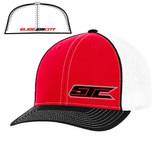SJC logo 404 trucker mesh red/wht/blk
