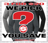 WE PICK 3 YOU SAVE LONG SLEEVES