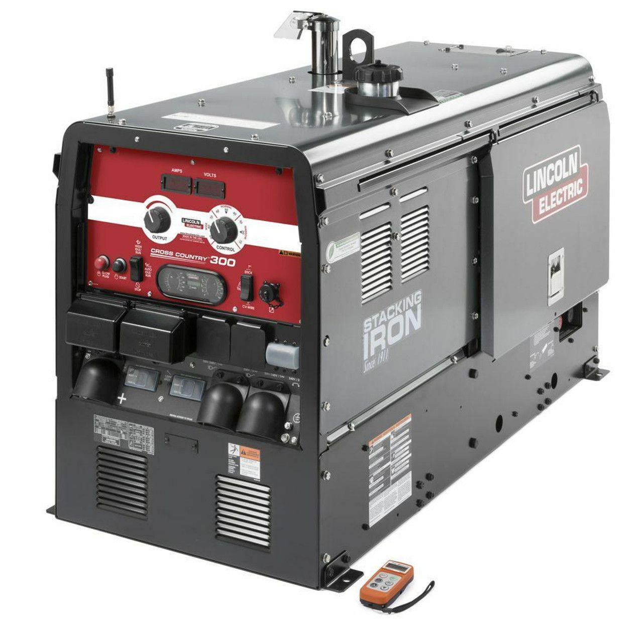 Lincoln Electric Lincoln Electric Cross Country 300 Engine Drive Welder KUBOTA w/F-installed Wireless Remote Control - K4166-2