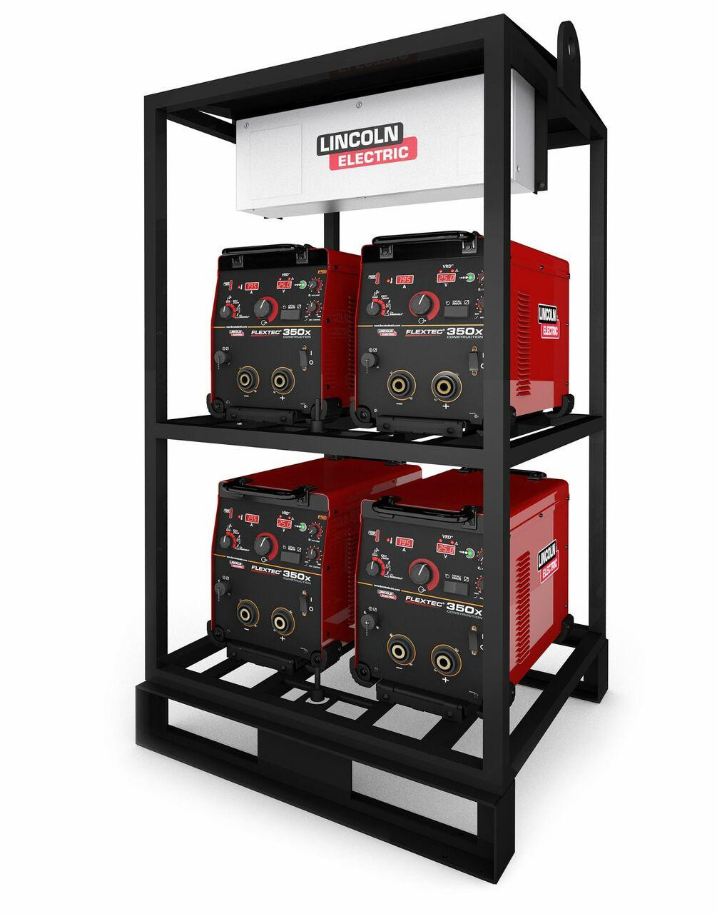 Lincoln Electric Lincoln Electric 4-PACK RACK FLEXTEC 350X CONSTRUCTION MODEL - K4276-1