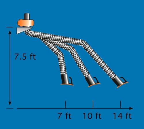 Kemper KEMPER - FLEXIBLE EXHAUST ARMS