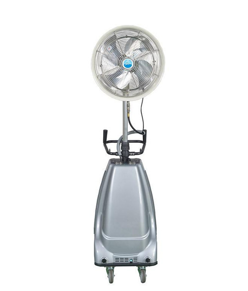 """Ventomist 18"""" Portable Misting Fan - High Pressure 1000 PSI pump and 16 gallon water tank"""