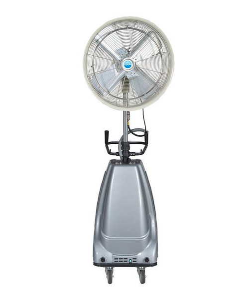 "Ventomist 24"" Portable Misting Fan - High Pressure 1000 PSI pump and 16 gallon water tank"