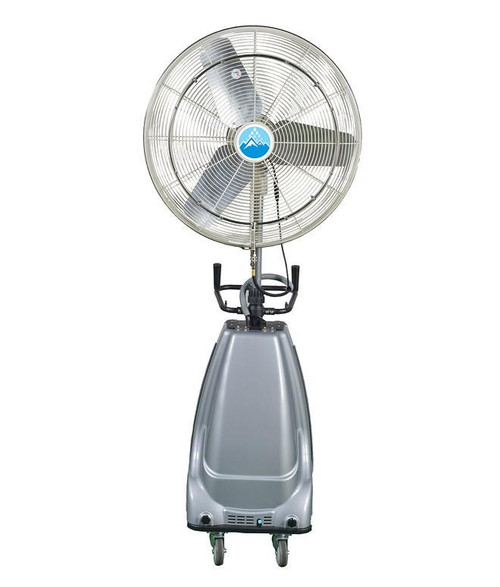 "Ventomist 30"" Portable Misting Fan - High Pressure 1000 PSI pump and 16 gallon water tank"