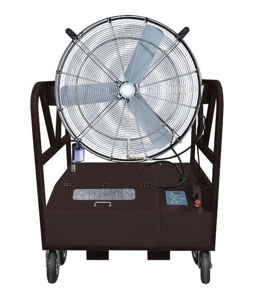 "Ventomist 36"" Portable Misting Fan - with High Pressure 1000 PSI Misting Pump and 33 Gallon Stainless Steel Water Tank"
