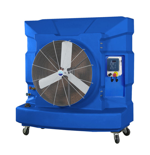 "Ventocool 36"" Portable Evaporative Cooling Unit - with digital control panel and remote control."