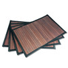 Bamboo Placemat - Dark Brown - Black Border, 4pc Set by Sustainable Simplicity