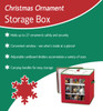 See-through Christmas Holiday Ornament Storage Box for 27 Large Ornaments