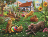 Dogs and Cats at Play - 500pc Jigsaw Puzzle By Sunsout