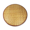 Round Woven Bamboo Dish Mat by Sustainable Simplicity